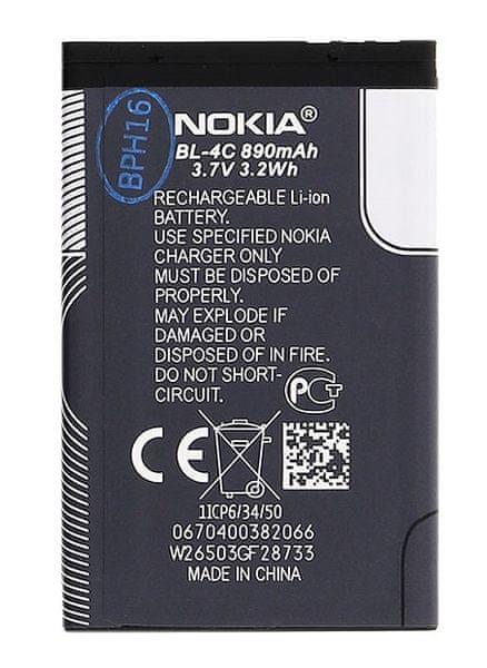 Nokia baterie, BL-4C, 890mAh, BULK