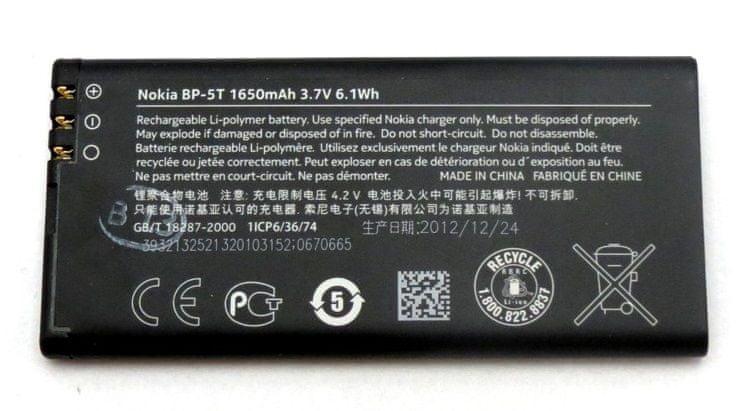 Nokia baterie, BP-5T, 1650mAh, BULK