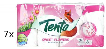 Tento Sweet Flowers toaletni papir, 3-slojni, 7 x 8 rolic