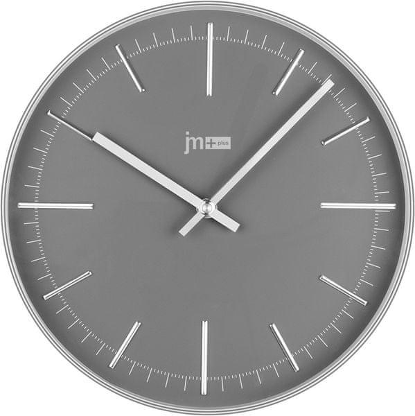 Lowell Nástěnné hodiny 14947C stříbrná