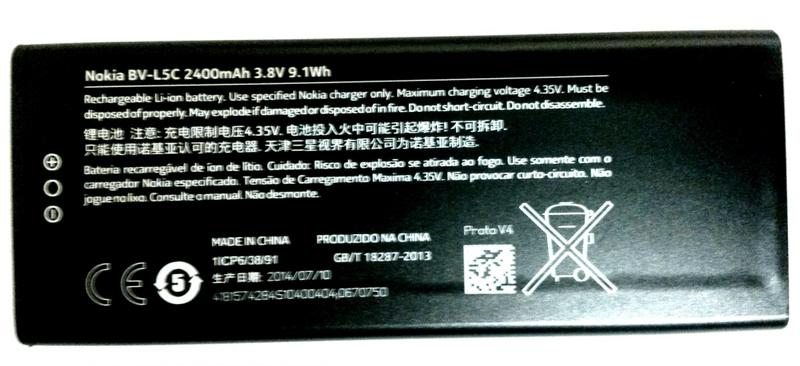 Nokia baterie, BV-L5C, 2400mAh, BULK - II. jakost