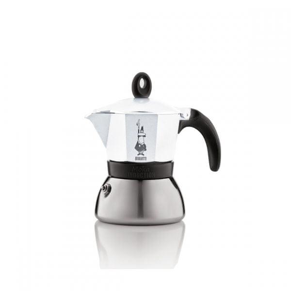 Bialetti Moka kávovar Induction, 3porce, bílá