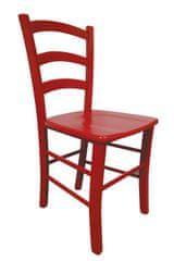 Stol Lesana z masivnim sediščem, 2 kosa, rdeča