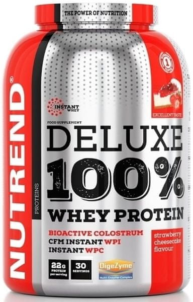 Nutrend Deluxe Whey 900 g Strawberry Cheesecake