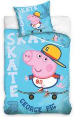 Carbotex Detské obliečky Prasátko Pepa, George Skateman
