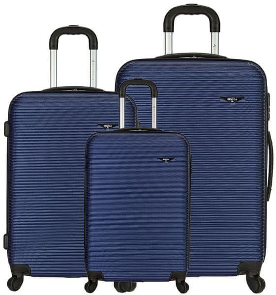 Sirocco Cestovní kufry sada T-1039/3 ABS modrá