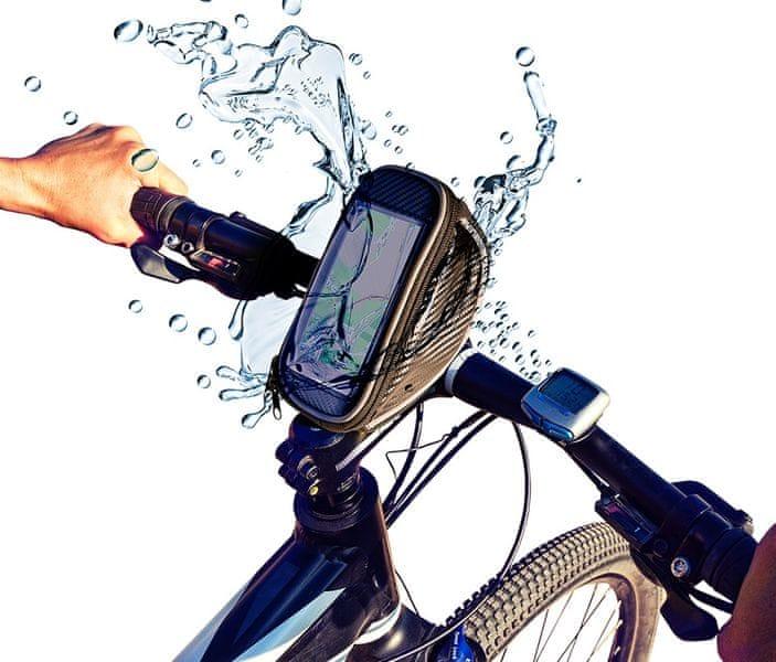 Azuri voděodolné pouzdro na kolo, černé
