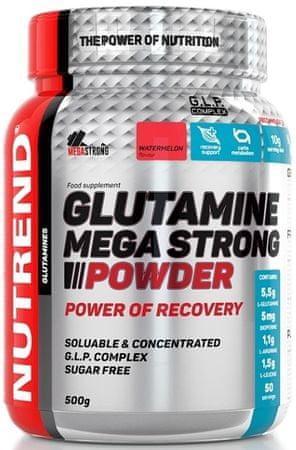 Nutrend Glutamine Mega Strong Powder 500 g watermelon