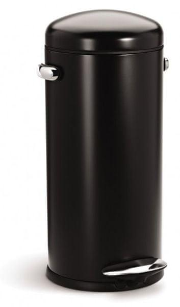 Simplehuman Pedálový odpadkový koš Retro 30 l černá