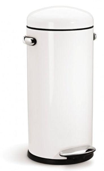 Simplehuman Pedálový odpadkový koš Retro 30 l bílá
