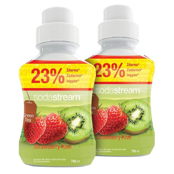 Sodastream Sirup Green IceTea Kiwi/Jahoda 2x 750 ml