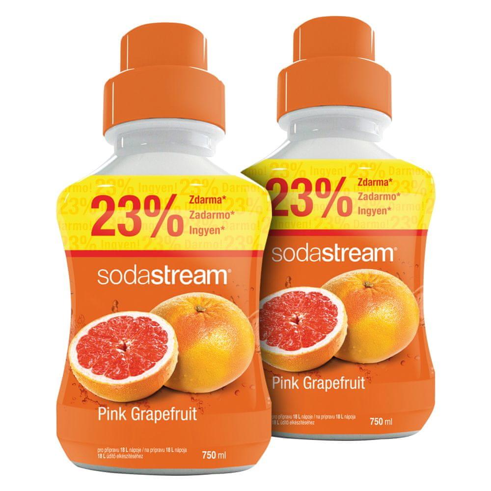 SodaStream Príchuť Pink Grapefruit 2x 750 ml