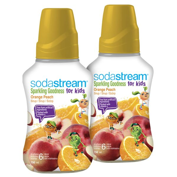 Sodastream Sirup Orange Peach Good-Kids 2x 750 ml