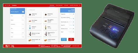eet1 Software + Bluetooth tiskárna