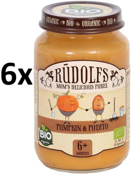 RUDOLFS Dětské pyré dýně + brambor - 6x190 g