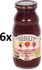 RUDOLFS Dětský juice jablko+švestka+řepa - 6x190 g