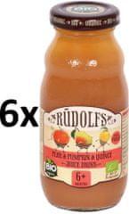 RUDOLFS Dětský juice hruška+dýně+kdoule - 6x190