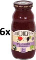 RUDOLFS Dětský juice jablko+ostružina - 6x190