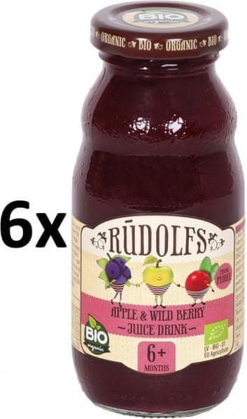 RUDOLFS Dětský juice jablko+lesní plody - 6x190
