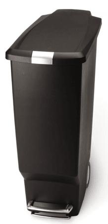 Simplehuman Úzký pedálový koš 40 l černá