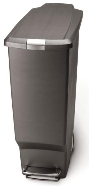 Simplehuman Úzký pedálový koš 40 l šedá