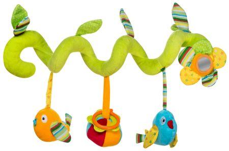 BabyOno Závesná špirála s vtáčikmi