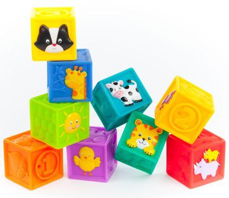 Teddies BABY Baby kostky měkké pískací 9 ks