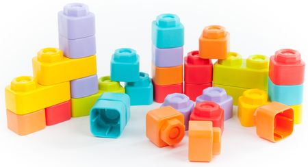 Teddies BABY Stavebnice kostky gumové 30ks v plastové tašce
