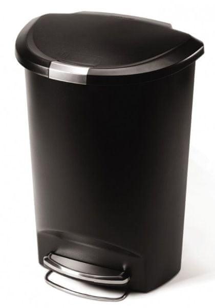 Simplehuman Půlkulatý odpadkový koš 50 l černá