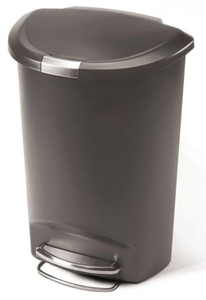 Simplehuman Půlkulatý odpadkový koš 50 l šedá