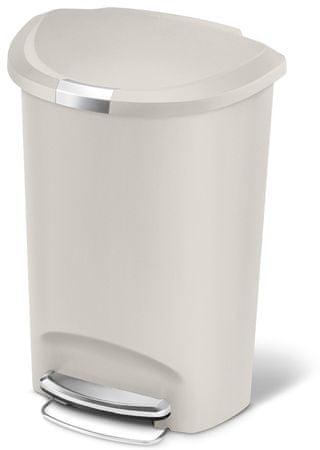Simplehuman Půlkulatý odpadkový koš 50 l béžová