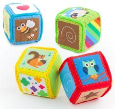 Teddies BABY Klocki materiałowe 4 szt w pudełku