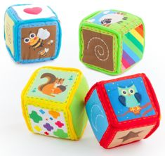 Teddies BABY Kocky textilné 4ks v krabici