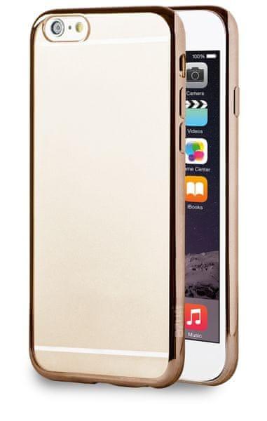 Azuri pouzdro s kovovým efektem, iPhone 6/6S, Gold
