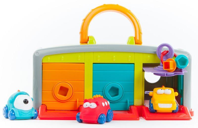 Teddies BABY Monster garáž s autíčky 3ks