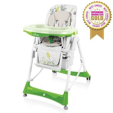 Baby Design Bambi multifunkciós etetőszék, Zöld