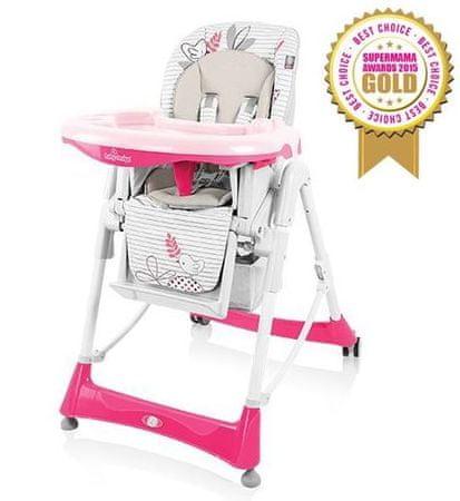 Baby Design Bambi multifunkciós etetőszék rózsaszín