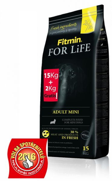 Fitmin For Life Mini 15 kg + 2 kg