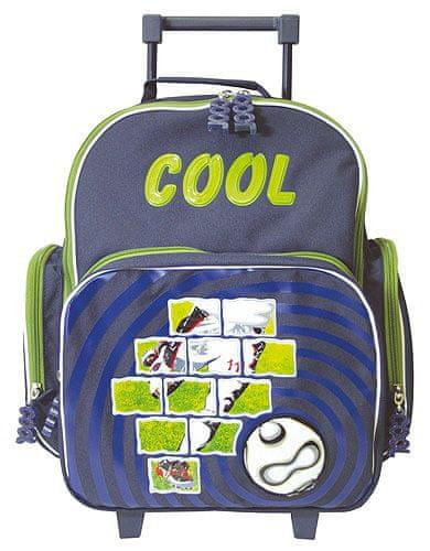 Cool Školní batoh trolley Fotbal - zelený