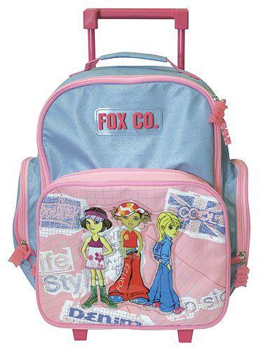 Cool Školní batoh trolley Fox Co. Tři holky