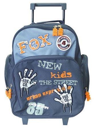 Cool Školní batoh trolley Fox Co. Otisky rukou