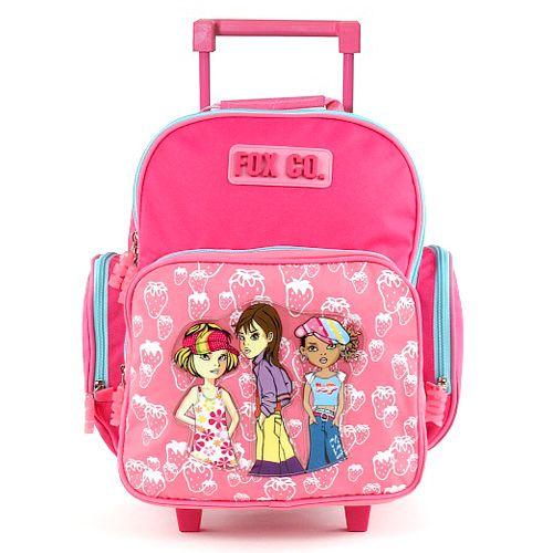 Cool Školní batoh trolley Fox Co. Jahůdky a tři holky