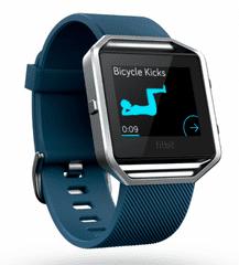 Fitbit Blaze aktivitásmérő okosóra L kék FB502SBUL-EU