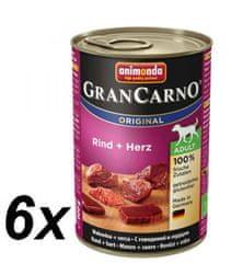 Animonda GranCarno Plus hovädzie + srdce 6x400g