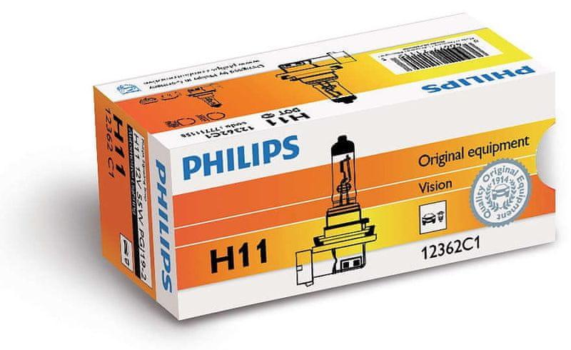 Philips Vision H11, 12 V, 55 W, 1 ks