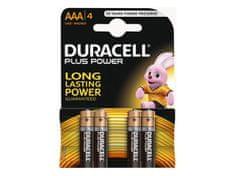 Duracell alkalne baterije Plus Power MN2400B4 AAA, 4 kosi
