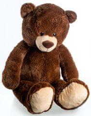 Teddies Medvěd plyš 100 cm tmavě hnědý