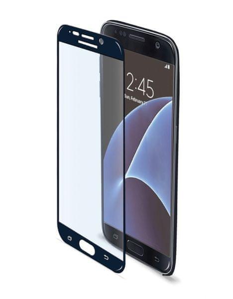 Celly tvrzené sklo, Galaxy S7, černé