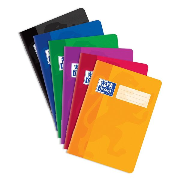 Sešit bezdřevý Oxford 544 - A5 linkovaný, 40 listů, mix barev