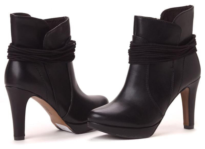 s.Oliver dámská kotníčková obuv 39 černá